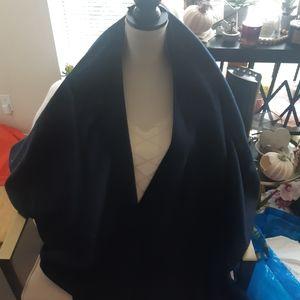 Vintage navy wool wrap scarf